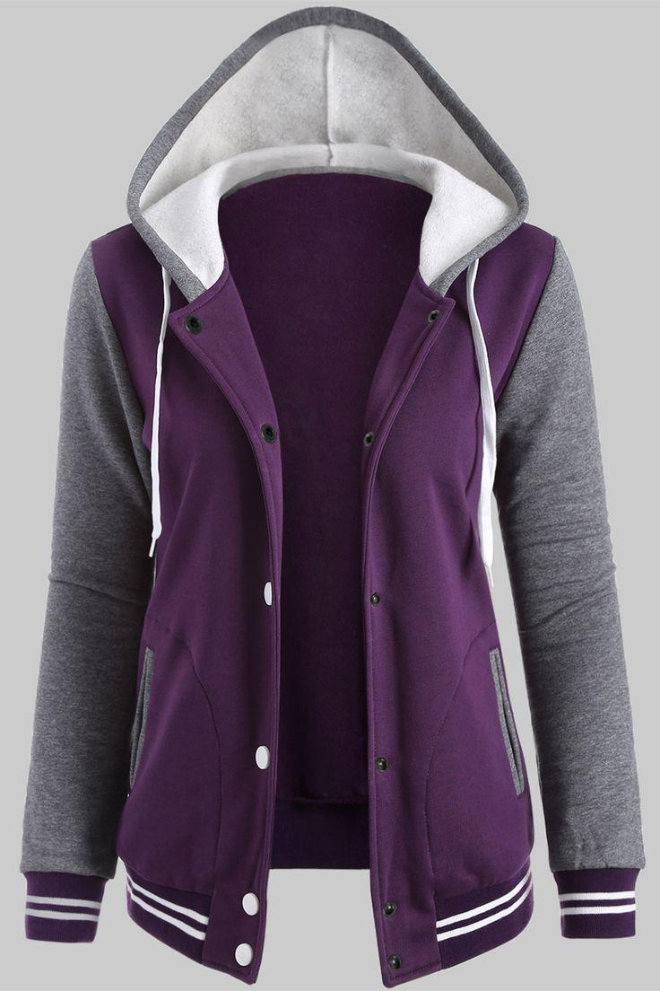 $21.82 fleece baseball hoodie jacket qvvcjwr