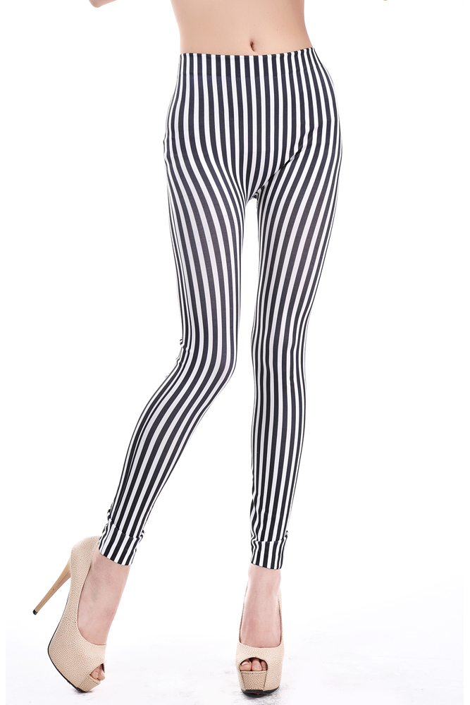 ... black and white striped leggings - thumbnail 2 ooqylwz