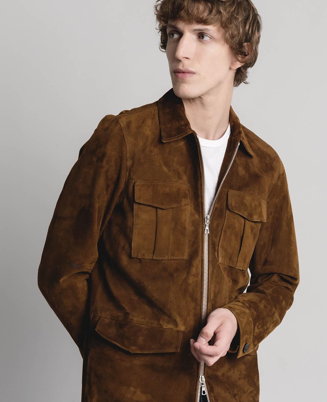 ... hugo jacket   light suede jacket itemprop- ... pzkcxww