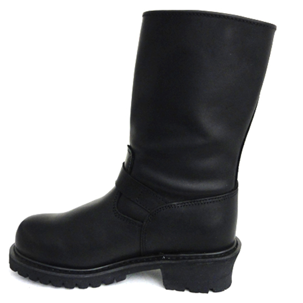 ... leather engineer boots mb1005bl-left side view ... zmziwpe