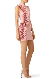 ... pink side ruffle dress by msgm syszdyt