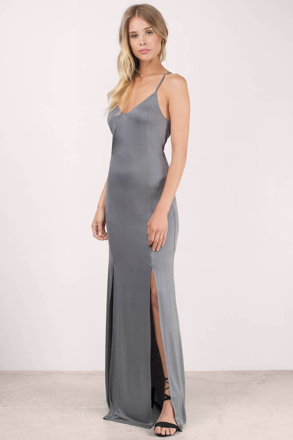 ... talk a good game grey maxi dress ... iikwtce