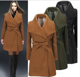2015 winter black military elegant long wool coats for women fashion retro ranplgx