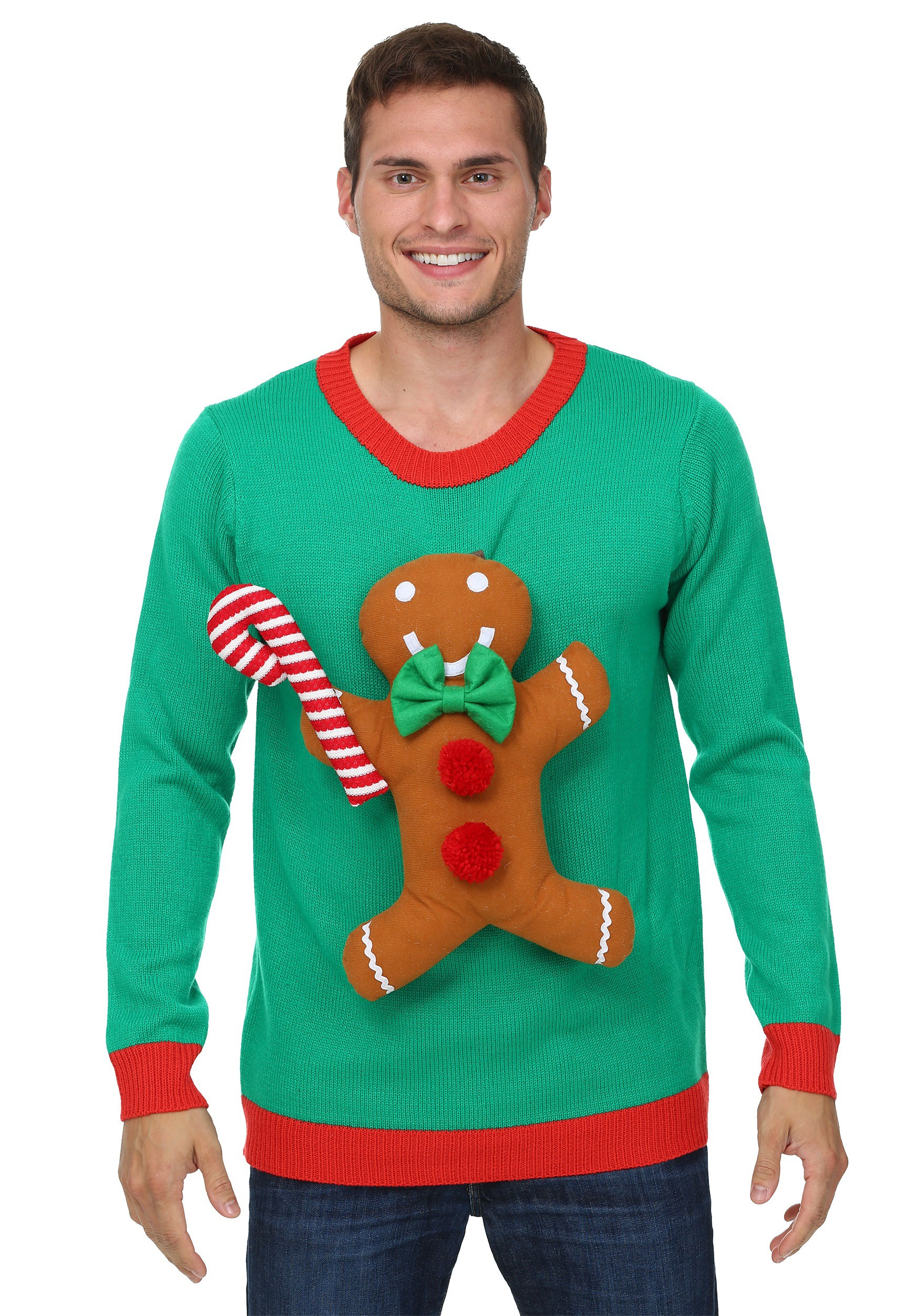 3d gingerbread man christmas sweater iemxbfd