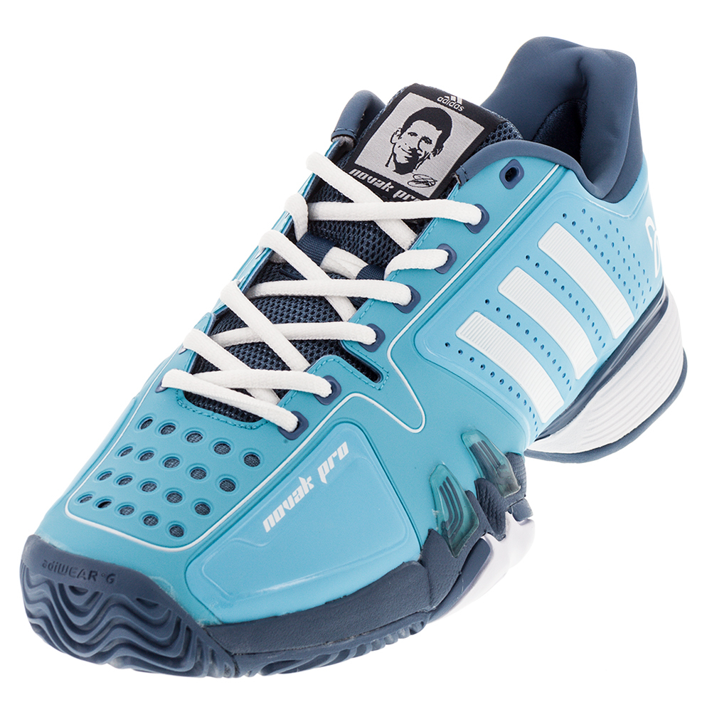 adidas menu0027s novak pro tennis shoes blue glow and white fnpekfa