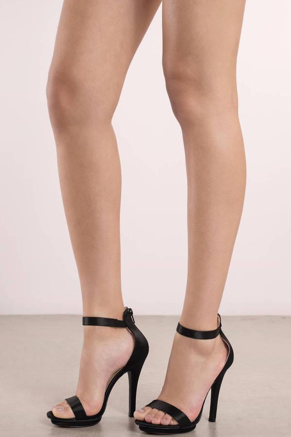 amy black satin ankle strap heels nqmwxxt