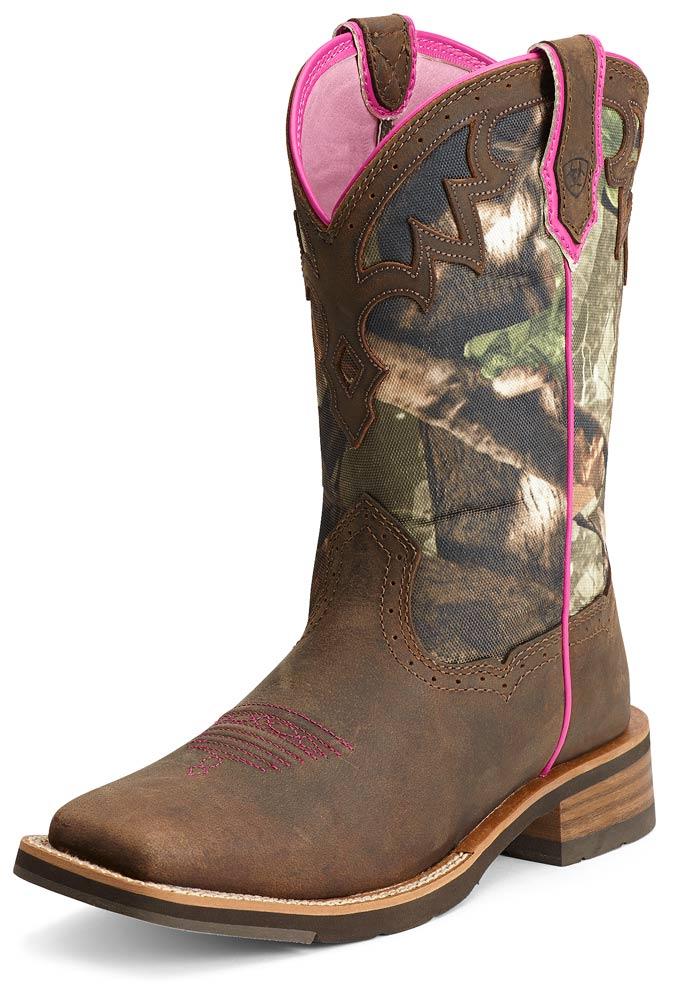 ariat boots women ariat® womens unbridled boots - powder brown/camo (closeout) eihbdgn