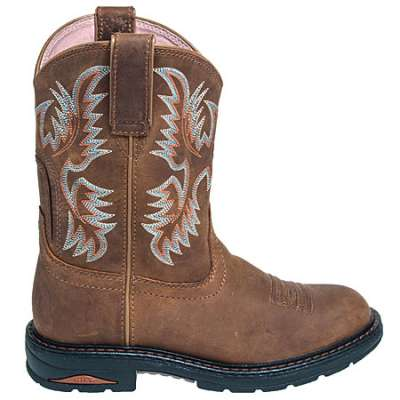 ariat boots women ariat boots: womenu0027s brown 10008628 tracey pull-on cowboy work boots rahwdac