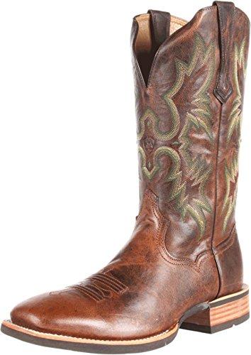ariat cowboy boots ariat menu0027s tombstone western cowboy boot, weathered chestnut, ... ndagfiw