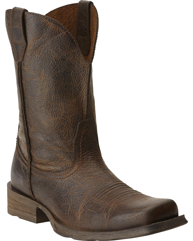 ariat cowboy boots ariat rambler cowboy boots - square toe, wicker, hi-res oivnvib