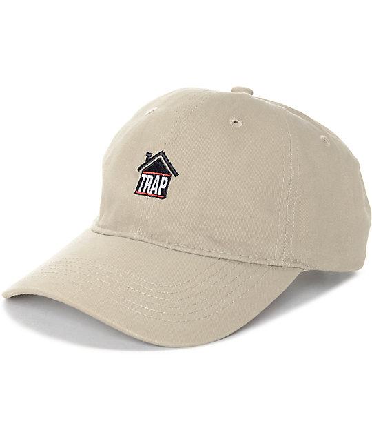 artist collective trap house khaki baseball hat jpbnmpw