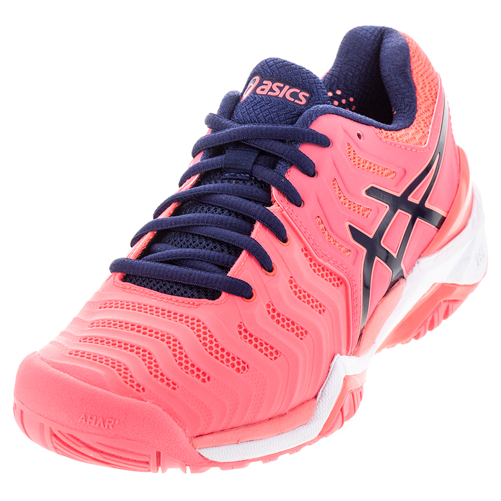 asics asics womenu0027s gel- resolution 7 tennis shoes diva pink and indigo blue nujbryz