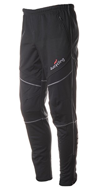 athletic pants 4ucycling menu0027s bike pants fleeced for cold weather, black, ... riffkms