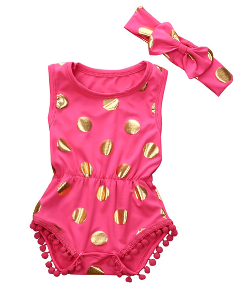 baby girl rompers wholesale- pretty baby rompers sets newborn baby girl clothes polka dot romper xzowsuc