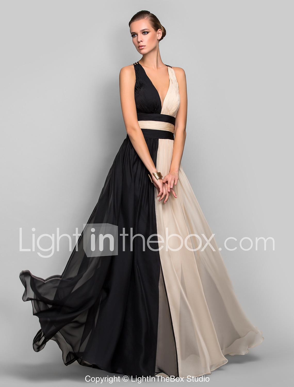 ball dresses a-line princess v-neck floor length chiffon formal evening military ball dress with ocjjijs