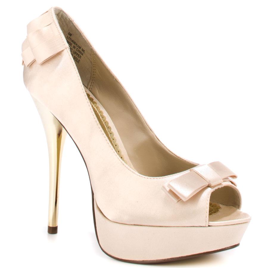 beige heels kam me - beige satin main view qedefbz