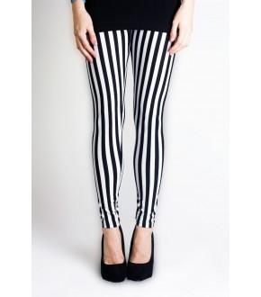black and white striped leggings - love leggings fdyandk