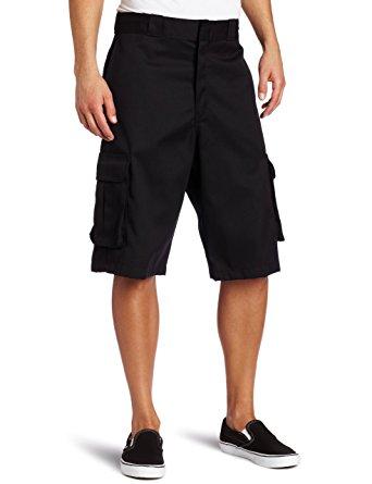black cargo shorts dickies menu0027s 13 inch loose fit twill cargo short, black, ... wfzgwmy