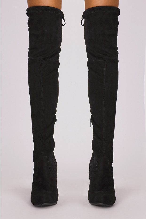 black knee high boots in the style returns unit 5 olympic court salford m50 2qp. remi black lgzwhlo