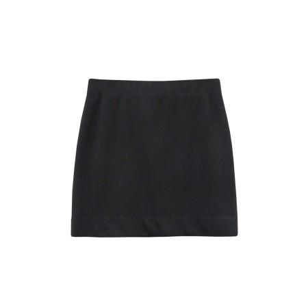 black skirt classic twill skirt ... uibmeek