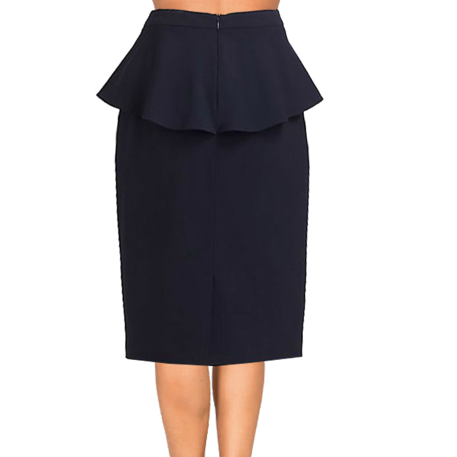 black skirt with attached peplum swjvkom