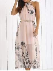bohemian dresses blossom print high neck chiffon boho summer dress xrcgdnd