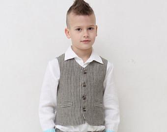 boys vest ring bearer vest wedding party outfit toddler boy vest natural wbldqxv