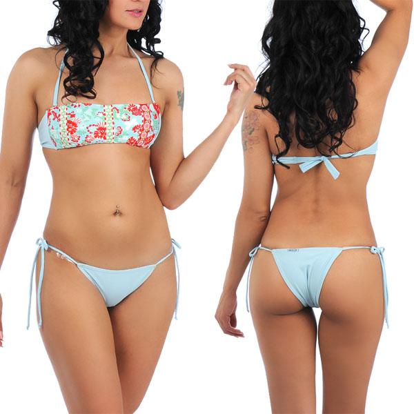 brazilian cut bikinis sais de cor banduholter bikini, swim wear, brazilian cut blue top and uifygmq