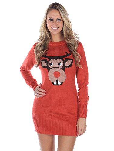 bucktooth rudolph christmas sweater dress | ugly-sweaters.com pfmmqua