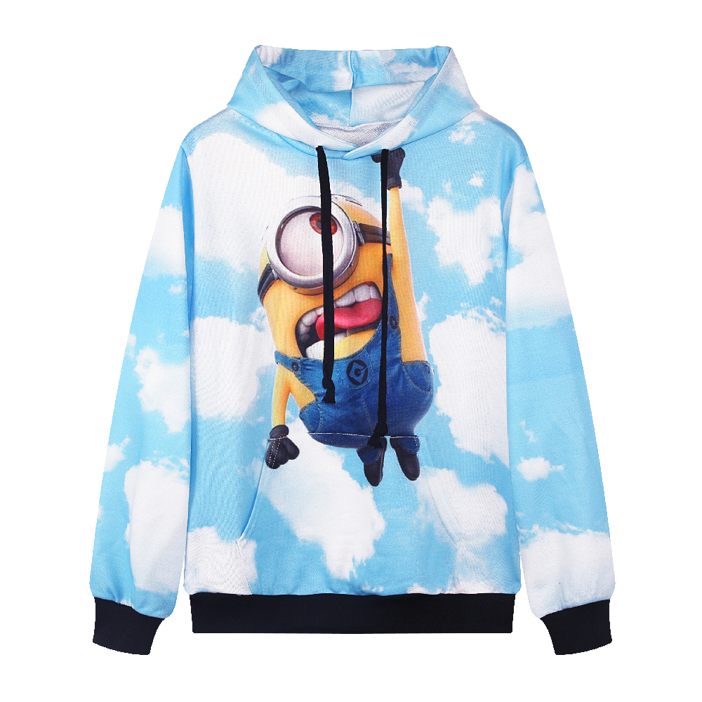 buy f1447 2016 spring women cute hoodies harajuku minions printed  sweatshirt for errmiyg