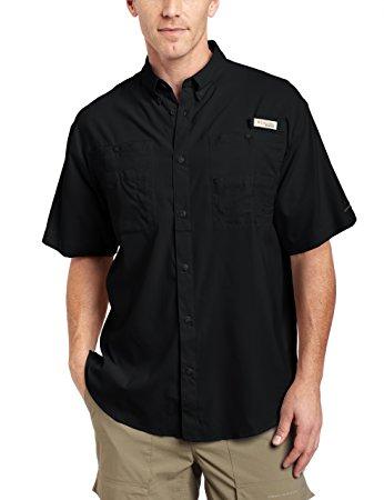 columbia menu0027s tamiami ii short sleeve shirt, black, x-small ojnbheb