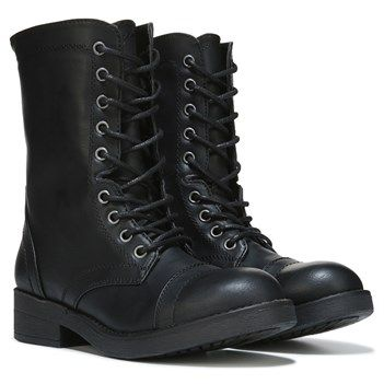 combat boots stomp into style with the maavin combat boot from madden girl.faux leather fxdulzw