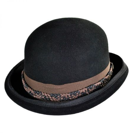 conner steampunk wool felt bowler hat lagpklq