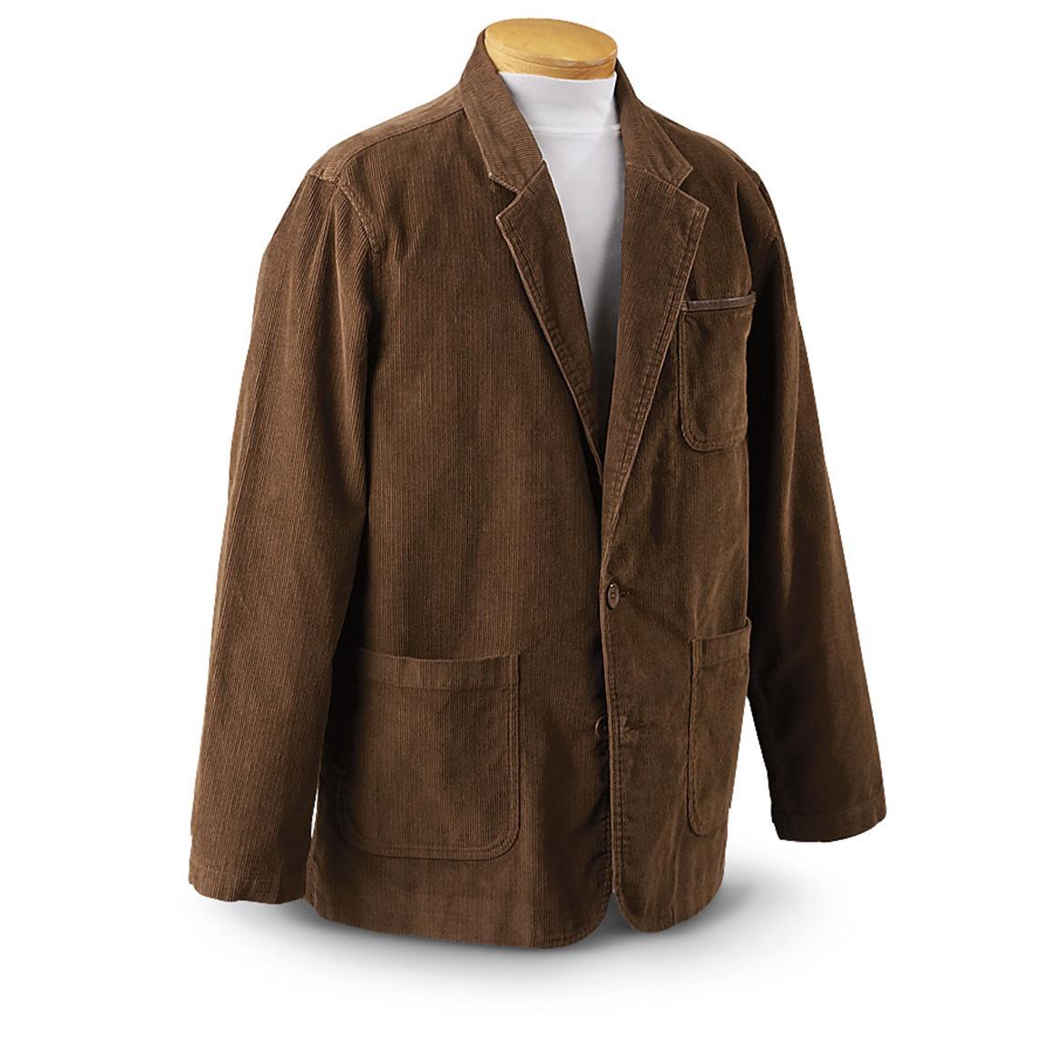 corduroy jacket guide gear® outdoor corduroy blazer, brown dfczefs