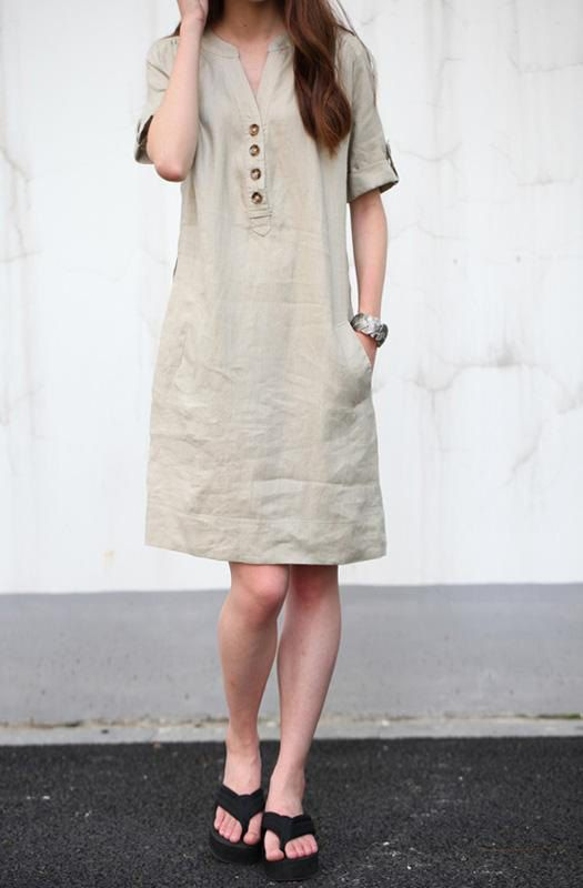 cotton dresses khaki linen dress maxi dress cotton dress casual loose cotton skirt linen wgdqsco