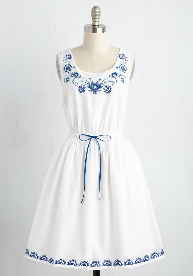 cotton dresses made to embroider dress. flaunt your love of sweet stitches by sporting fytpahu
