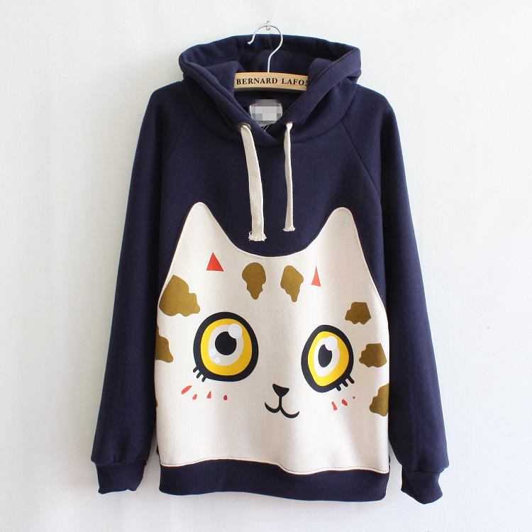 cute hoodies 2017 harajuku japanese kawaii hoodies women sweatshirts ears cute cat muco  autum kcnxuqk