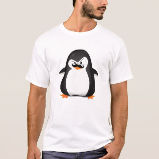 cute t shirts cute black white penguin and funny mustache t-shirt radffqg