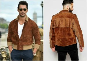 david gandy and fringed suede jacket bjtwnei