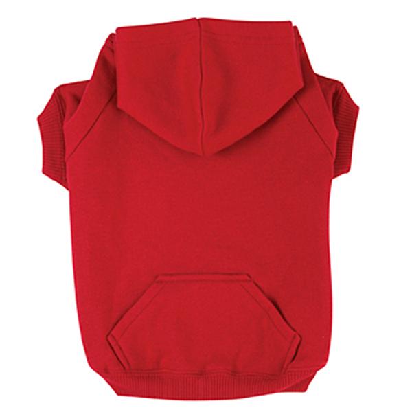 dog hoodies basic dog hoodie - tomato red joayidh