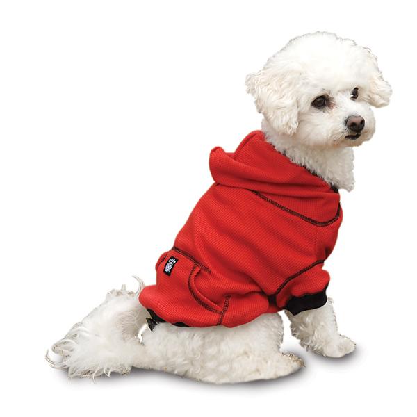 dog hoodies on-the-go thermal dog hoodie - red ... koyxshi