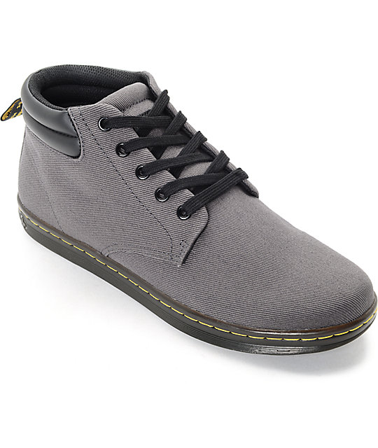 dr martens shoes dr. martens maleke padded collar grey shoes syueyhd