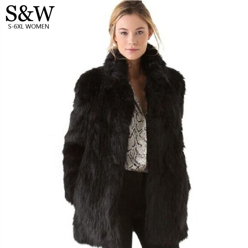faux fur jacket aliexpress.com : buy white/black faux fur coat women winter coat medium long zrurbmy