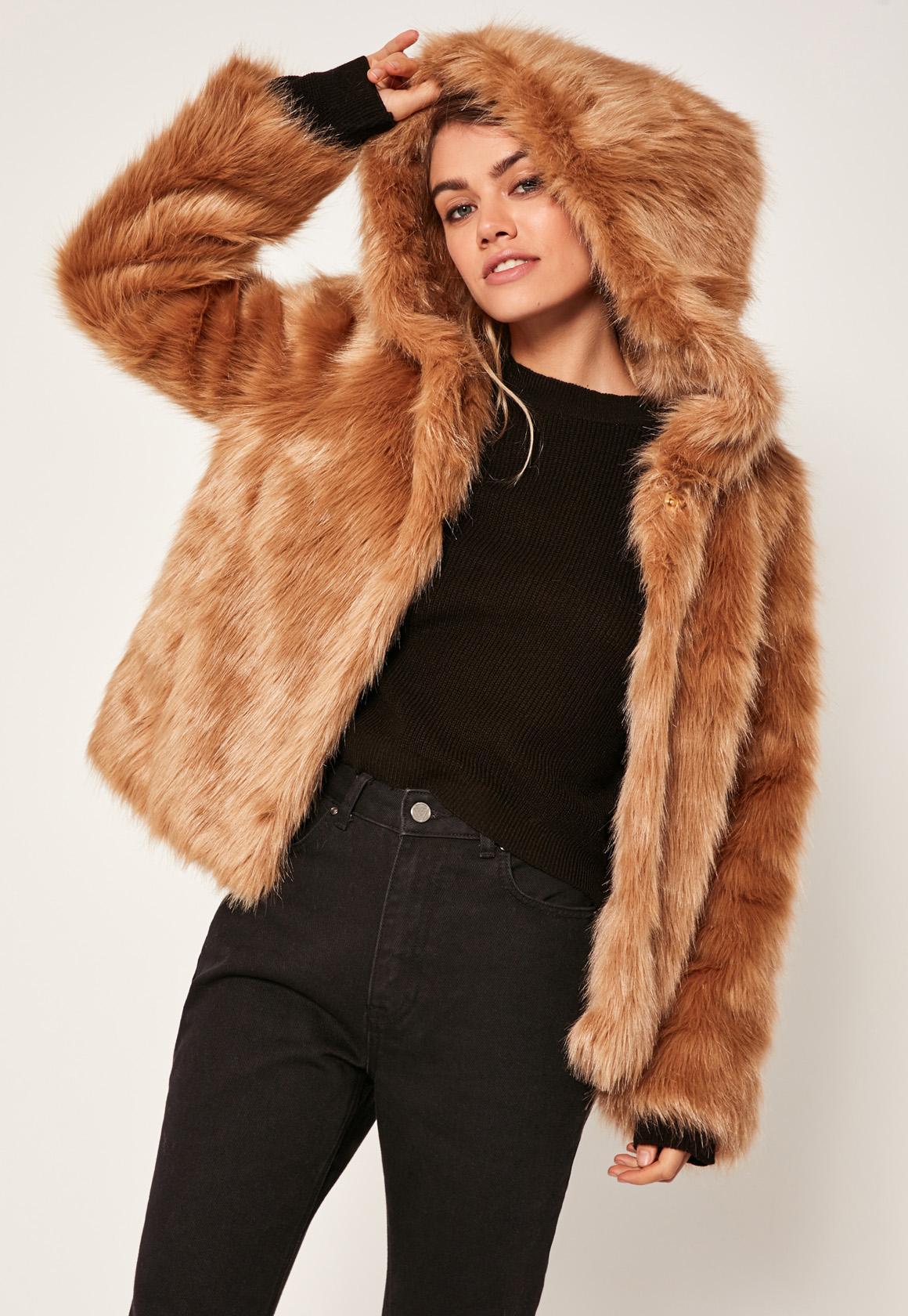 faux fur jacket camel hooded faux fur coat eiwqeam