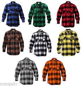 flannel shirts image is loading mens-brawny-buffalo-plaid-flannel-shirt-long-sleeve- urfuwgf