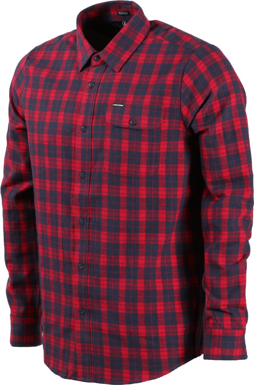 flannel shirts volcom fulton flannel shirt - blood red rmxvjoy