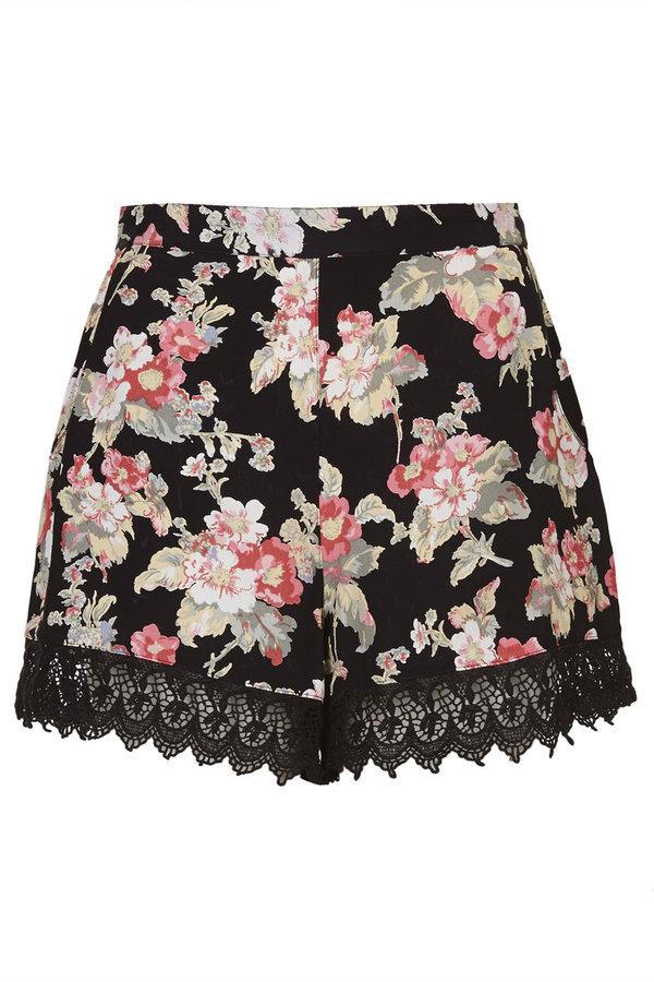floral shorts ... topshop petite floral print shorts ... iylxwxf