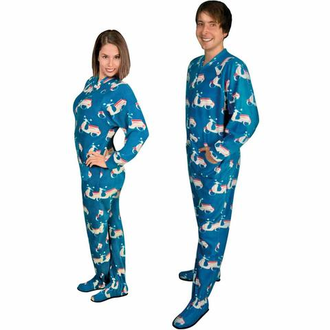 footed pajamas for women footie pajamas for adults with butt flap italian scooter fleece gfjixoo