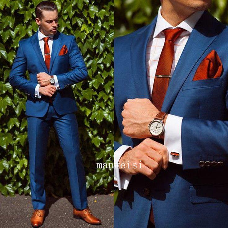 formal suits blue menu0027s fit wedding suits groom tuxedos groomsmen formal suit  jacket+pants ipqnhya