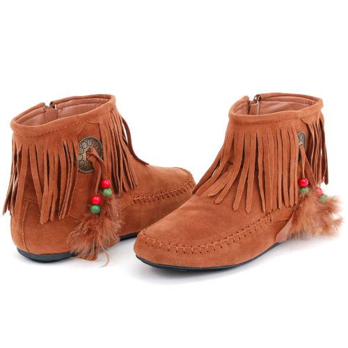 fringe moccasin boots idfbumj